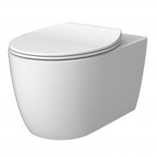 DEVIT 3020155W ACQUA NEW Унитаз подвесной без ободка, тонкая крышка soft-close, quickfix, белый матовый