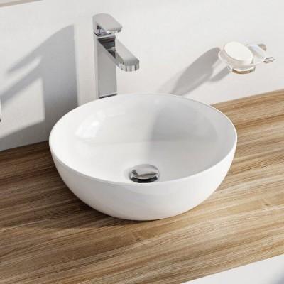 ⇨ Раковины | Умывальник Ravak Керамический Uni 400 B Slim Белый в интернет-магазине ▻ TILES ◅