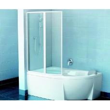 Шторка для ванны Ravak VSK2 ROSA 140 L Белый RAIN