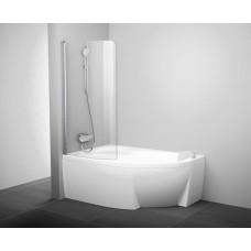 Шторка для ванны Ravak CVSK1 ROSA 140/150 L Белый Transparent