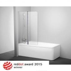 Шторка для ванны Ravak 10 CVS2-100 L Белый Transparent