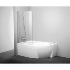 Шторка для ванны Ravak CVSK1 ROSA 160/170 L Белый Transparent